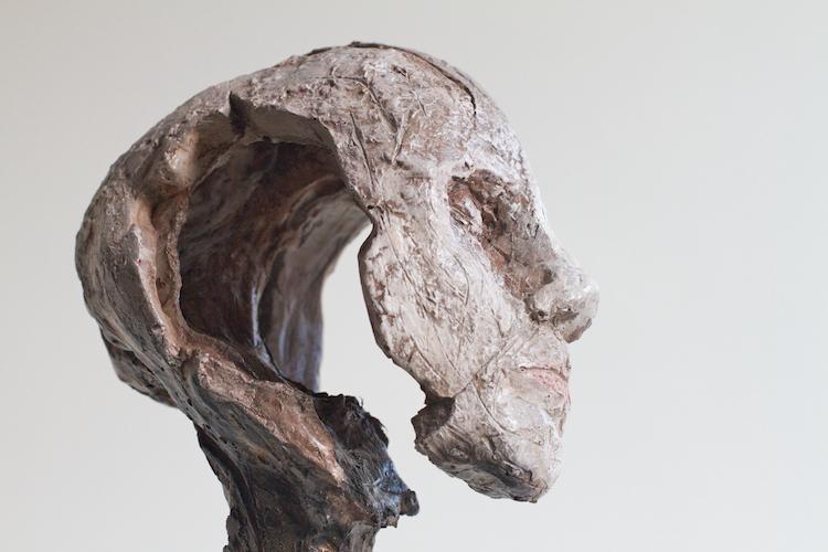 Lasse Nissilä sculpture. Träumerei (Dreaming), 2013. Concrete. 34x17x10cm.