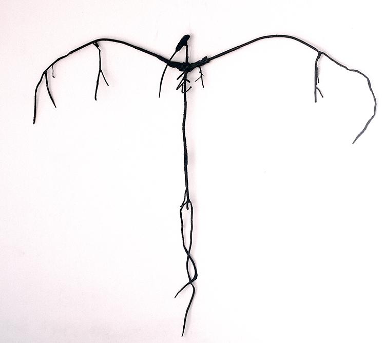 Sculpture by Lasse Nissilä. Lost, 2014. Metal. 140x114x9 cm.