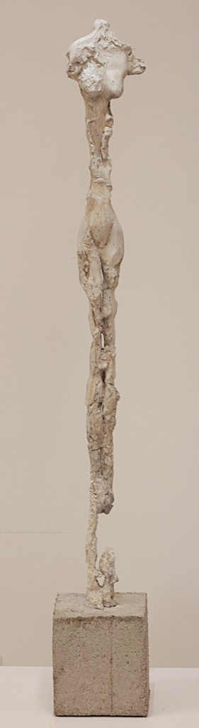 Sculpture by Lasse Nissilä. La femme 2013. Concrete. 95x13x8 cm.